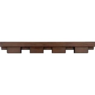 dentil shelf for a solid wood entry door