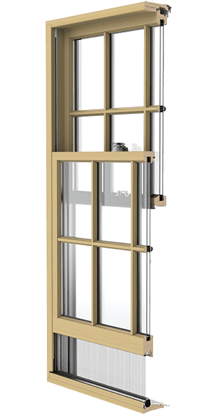 reserve traditional hung window illustration