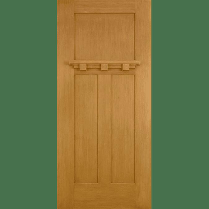 solid craftsman entry door