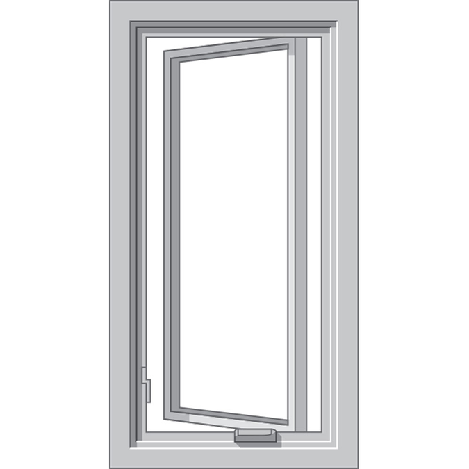 graphic of a casement window by hurricane shield