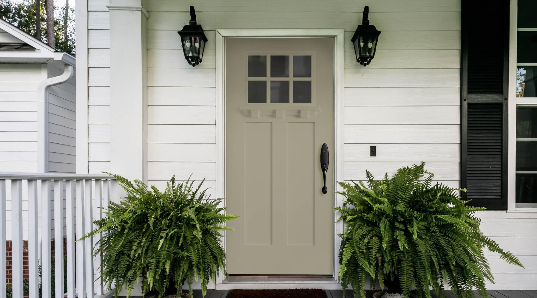 tan craftsman front door