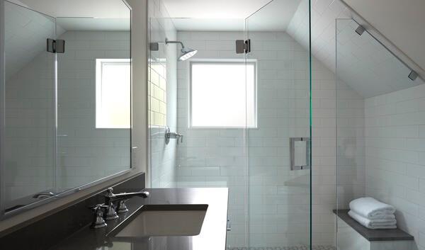 pella square bathroom white window
