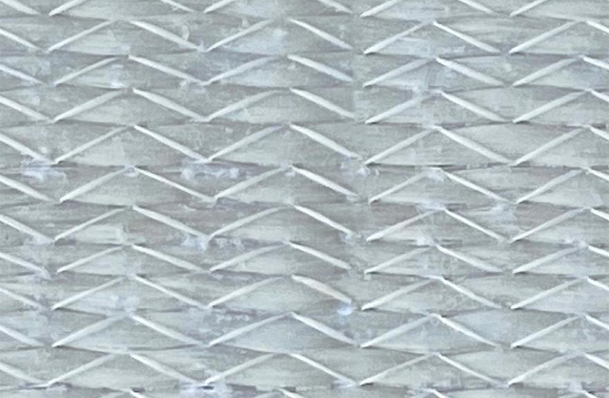 a close view of pella's fiberglass material