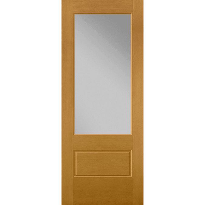 flush glazed 3/4 light entry door
