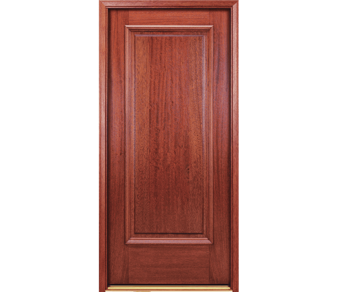 1 panel wood entry door