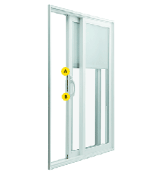 multipoint locking system for vinyl sliding patio doors