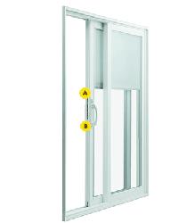 multipoint locking system for vinyl sliding patio doors