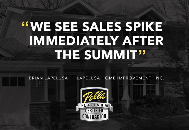 """We see sales spike immediately after the summit"""