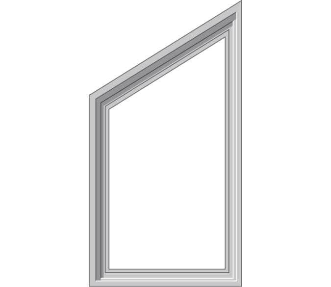 angle top window cut out background