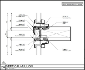 The Rose expansion mullion drawing.