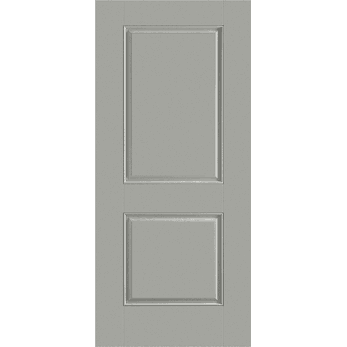 solid two panel square entry door