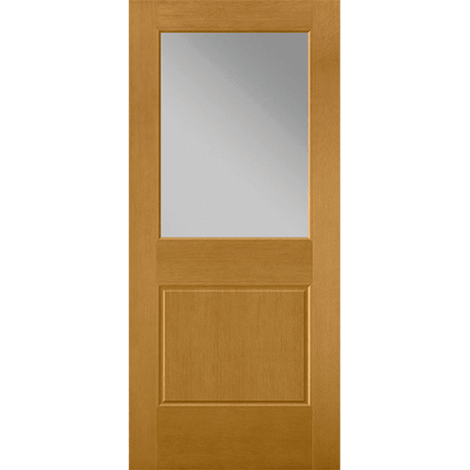 flush-glazed 1/2 light entry door
