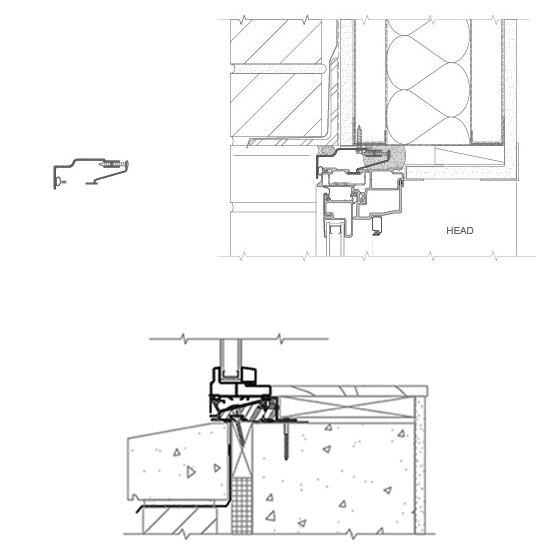 receptor and subsill for fiberglass windows and door