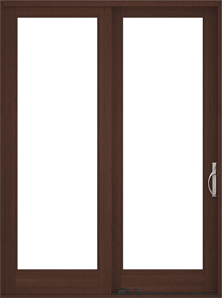 reserve traditional sliding patio door dark mahogany