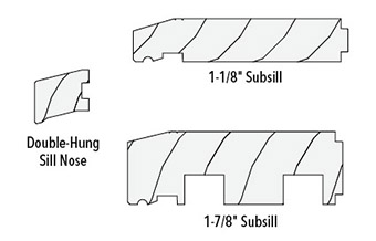 sill profiles for wood brickmould installation