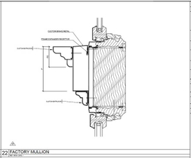 typical door intermediate mullion - harlem