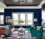 blue walls surround 3 impervia casement windows