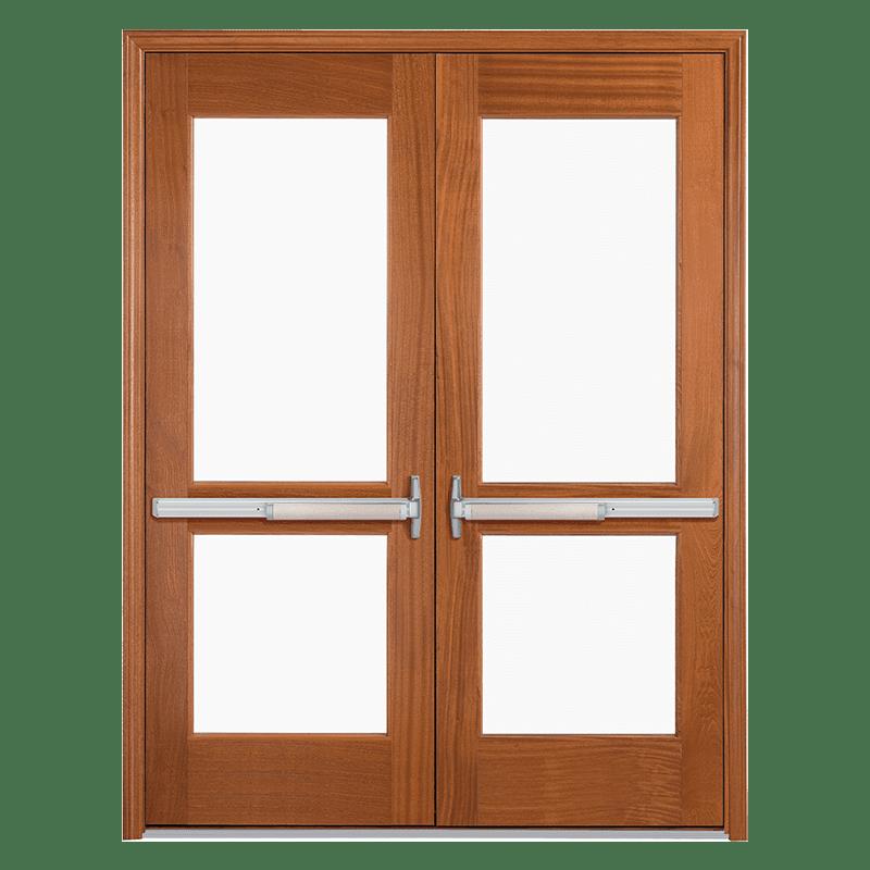 wood commercial entrance door