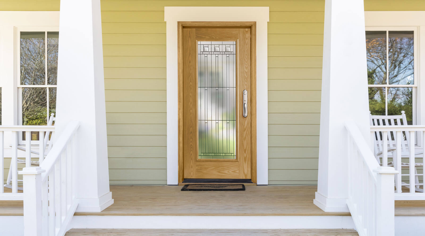 wood front entry door replacement