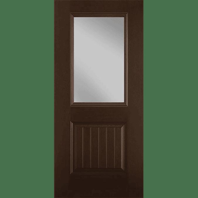 half light 1 panel plank entry door cob