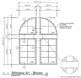 St. Paul Plaza window elevation drawing.