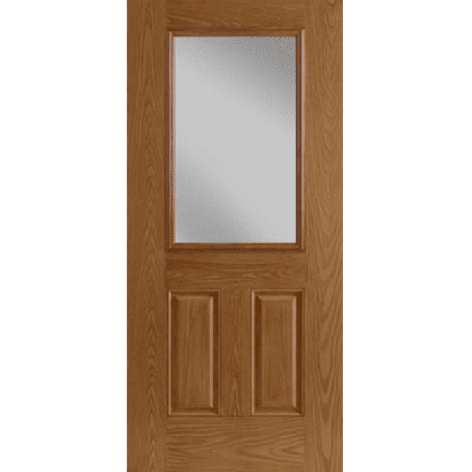 half light 2 panel entry door