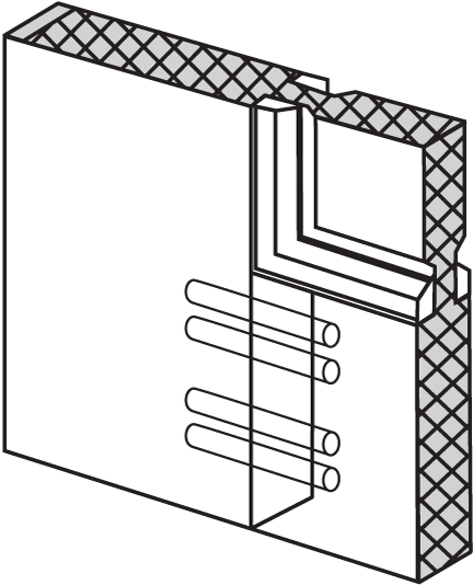 cutaway image of a wood entry door