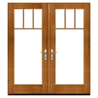 Pella Architect Series Traditional Wood Hinged Patio Doors