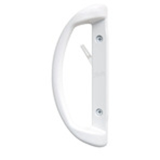 white encompass sliding patio door hardware