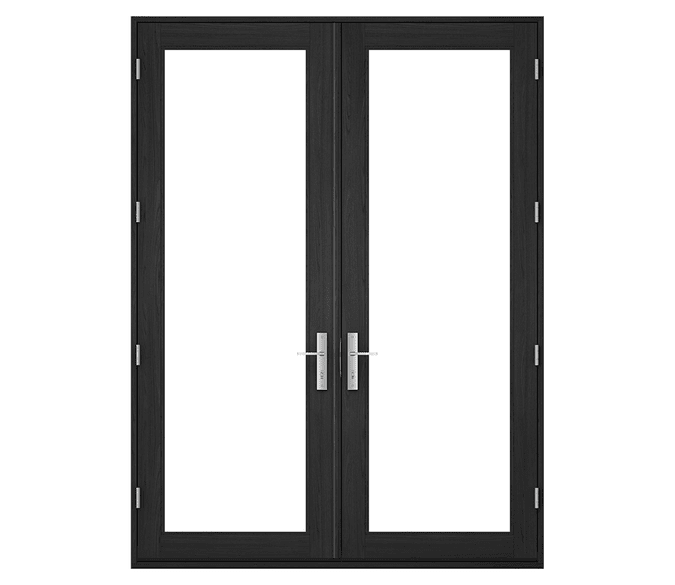 large hinged patio door with no backgrounds