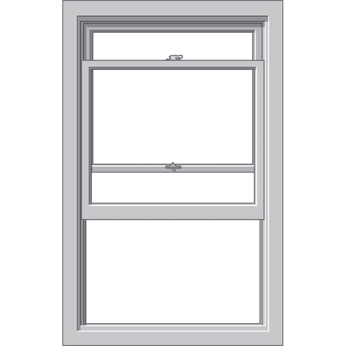 large graphic of a defender series single-hung window