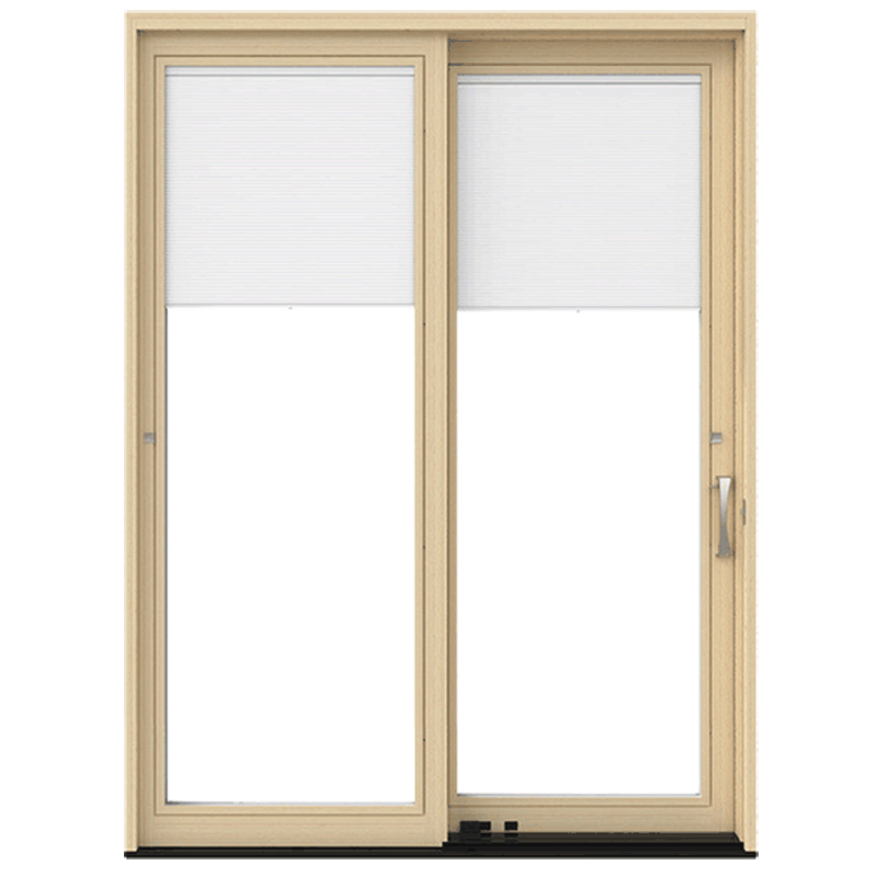 Pella Lifestyle Series Sliding Patio, Sliding Glass Door With Blinds Built In Cost