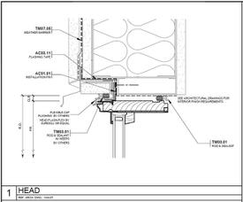 St. Paul Plaza Architect Series window head drawing.
