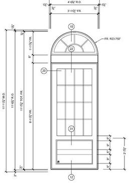 typical door elevation - harlem