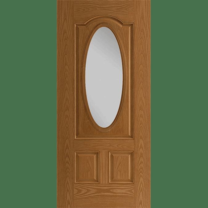 3/4 light deluxe entry door with glass
