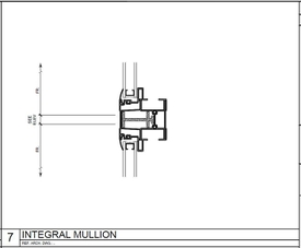 Johanna Shores integral mullion blueprint.