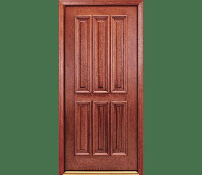 3 panel over 3 panel wood entry door