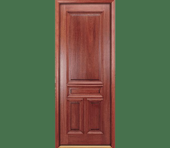 4 panel wood entry door