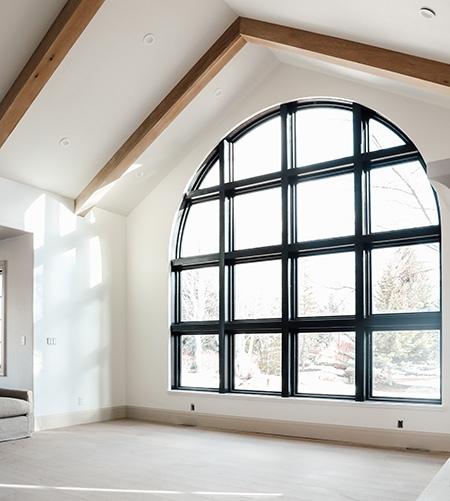 After black arched window