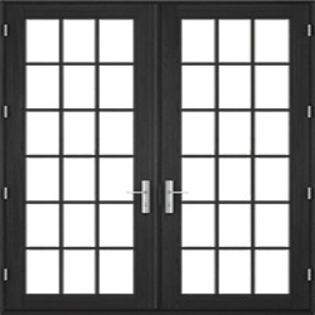 contemporary hinged door traditional grille pattern