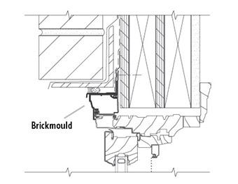 enduraclad head detail with brickmould