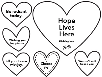Build hope coloring page