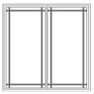 Prairie Grille Pattern for Impervia Windows