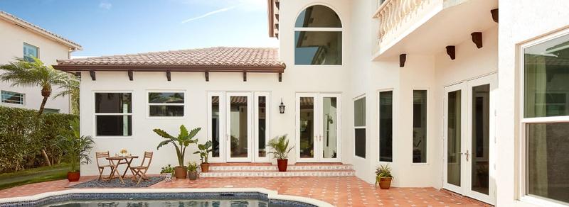 hurricaneshield patio doors on a coastal home