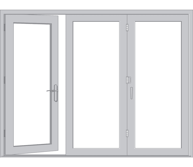 illustration of a bifold patio door reserve traditional