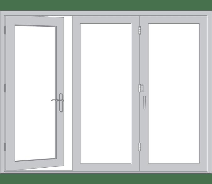 Traditional Wood Bifold Patio Door, How Much Are Pella Bifold Patio Doors