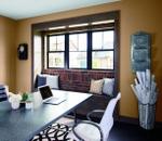 Impervia-singlehung-table-orange-walls