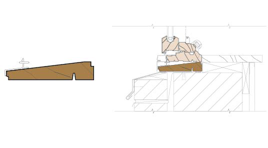 technical drawing of subsill detail