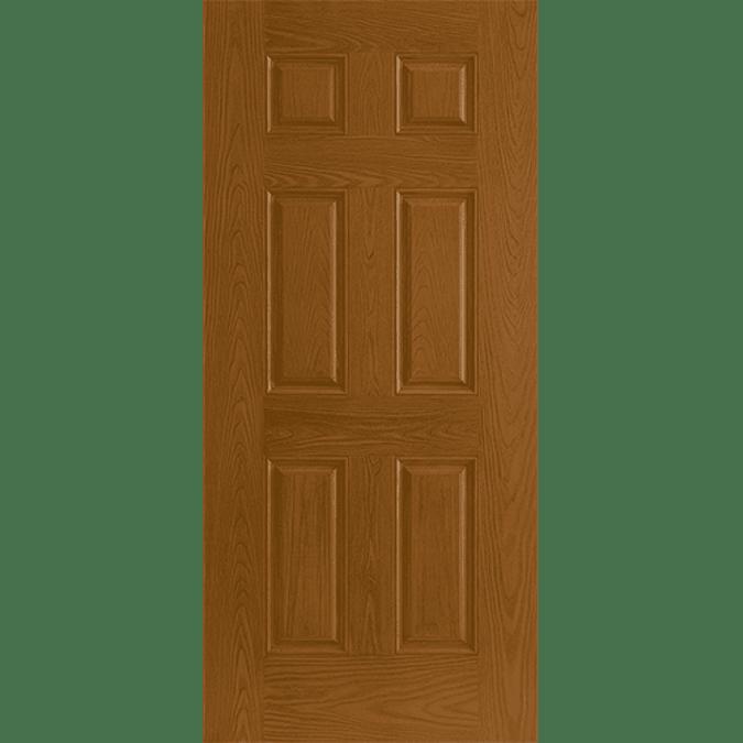 solid six panel entry door