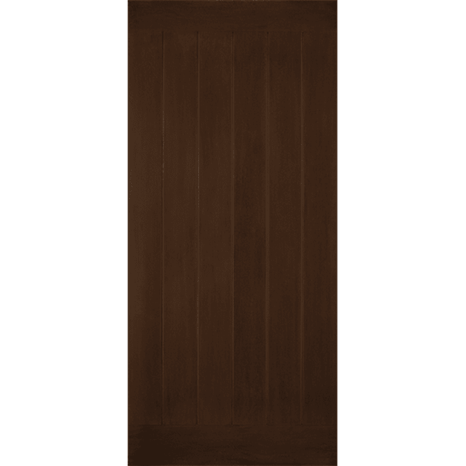 solid flush plank entry door